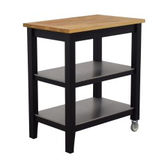 Kitchen Cart Table New Decorating Ideas 57 Off Ikea Stenstorp Wood And Black Island Buy