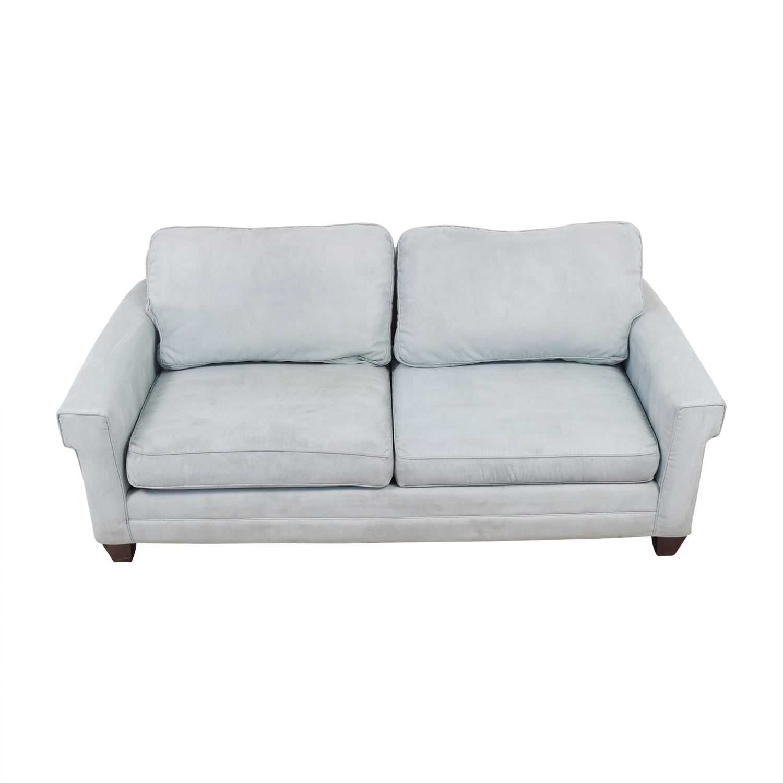 bassett sofa bed tosa futon argos 90 off light blue micro fiber two