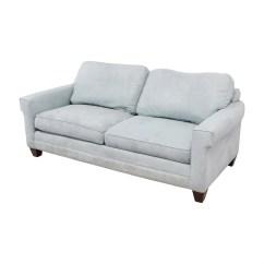Bassett Sofa Bed 3 Cushion Sleeper Slipcovers 90 Off Light Blue Micro Fiber Two