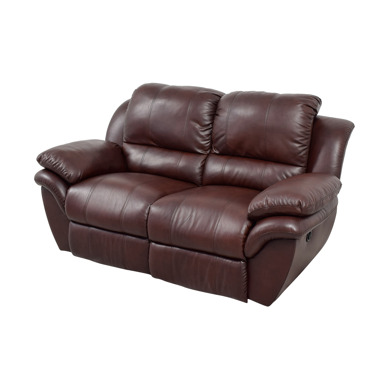 bobs furniture sofa recliner sectional sofas cincinnati ohio 78 off bob 39s brown leather
