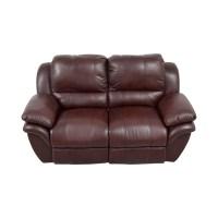 78% OFF - Bob's Furniture Bob's Furniture Brown Leather ...