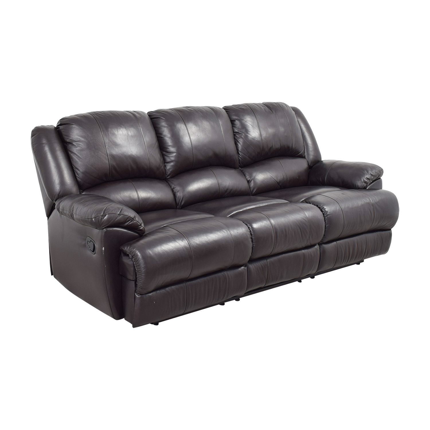 ashley leather sofa bed sleeper with air mattress 76 off furniture black
