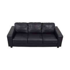 Black Leather Chair Ikea Tall Gaming 44 Off Skogaby Sofa Sofas