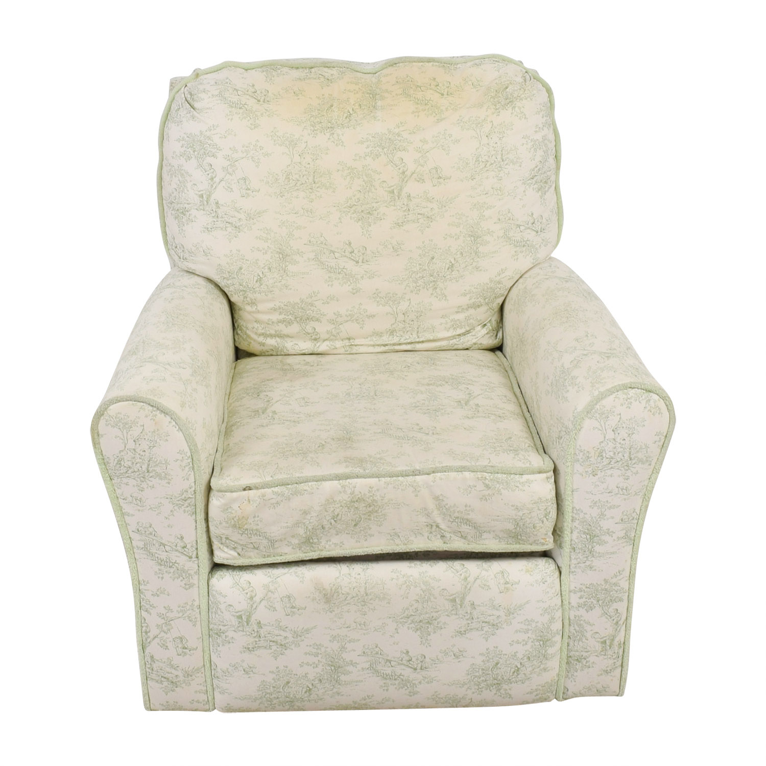 reclining accent chair swing in amazon 90 off bellini baby children s playground white and green rocking recliner chairs