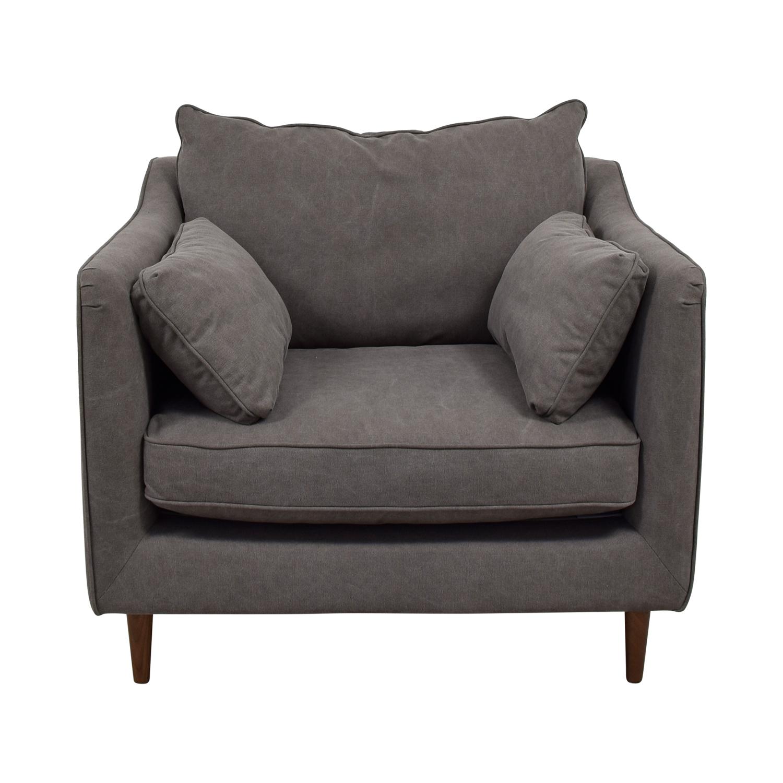 cheap accent chairs for sale batman car chair 83 off caitlin grey cargo canvas discount