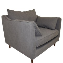Cheap Accent Chairs For Sale Padded Kitchen On Wheels 83 Off Caitlin Grey Cargo Canvas Chair