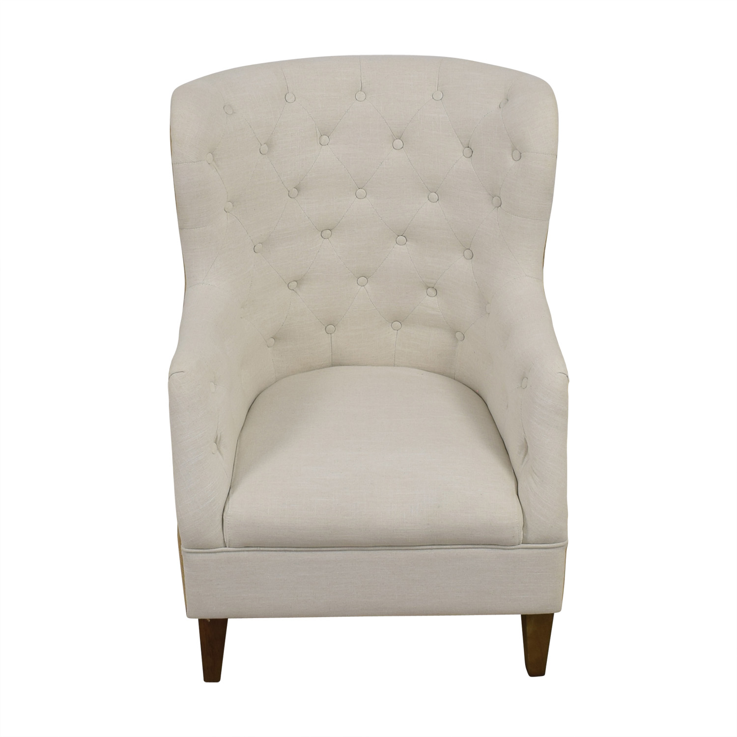 white tufted chair rocking and ottoman covers 76 off classic concepts tan back wing accent discount