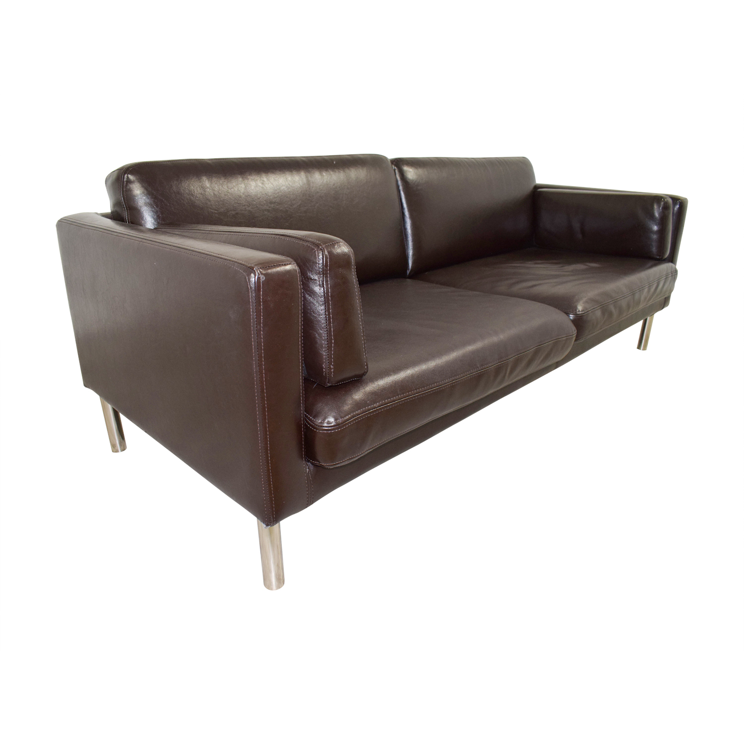 ikea sater sofa outdoor sectional sunbrella 54 off split leather sofas