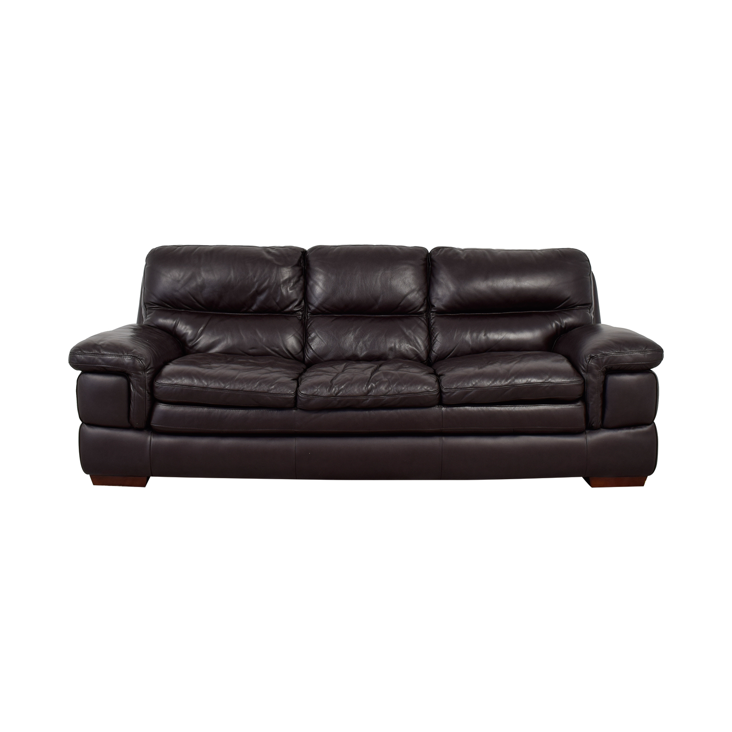 beige and brown leather sectional sofa with built in footrests craigslist boston couch 50 off ikea klippan sofas