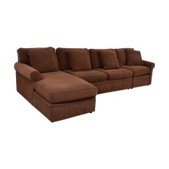 Furniture Row Sofa Chesterfield Saxon 90 Off Rowe Brown Sectional