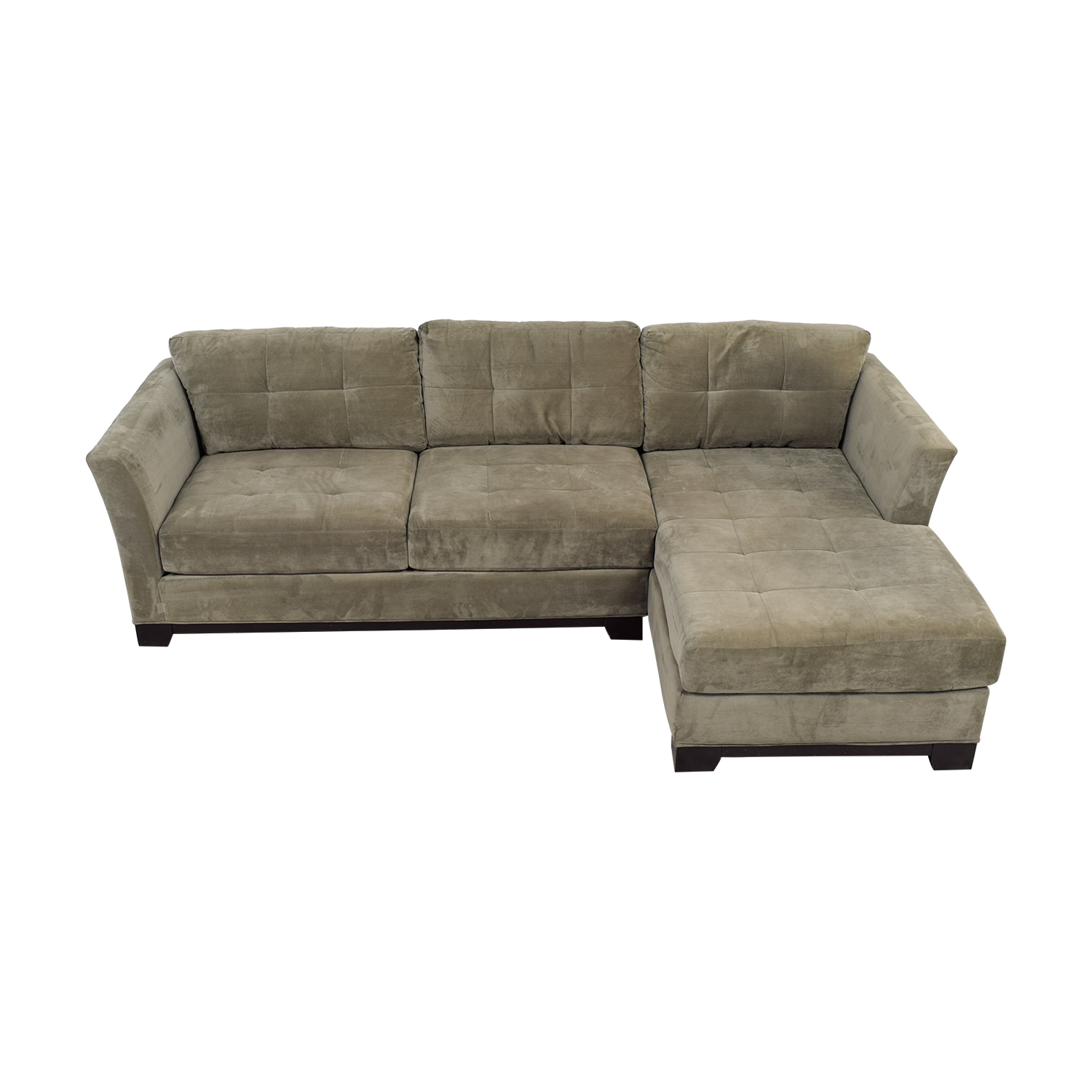 macy s elliot sofa stores los angeles 79 off 39s grey microfiber semi tufted
