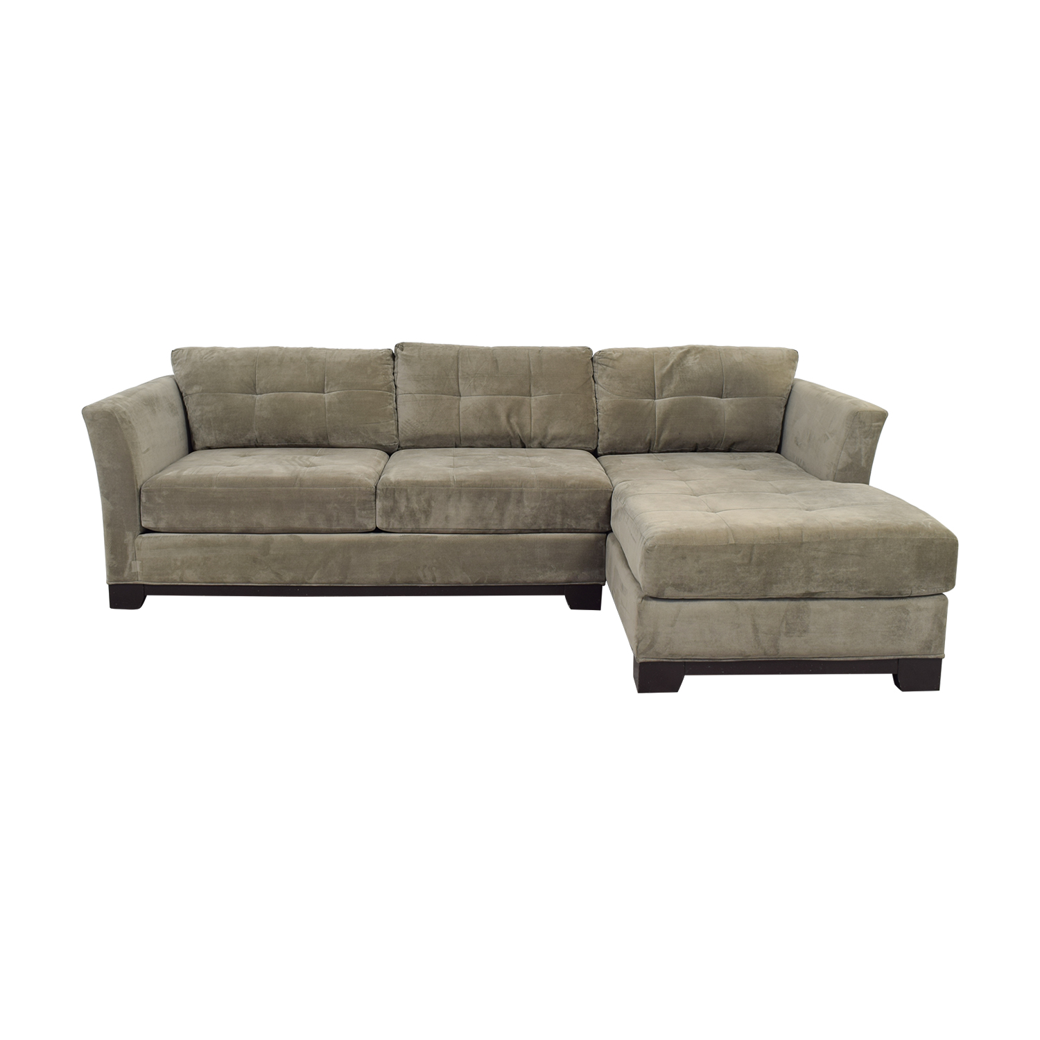 macy s elliot sofa best recliner brands india 79 off 39s grey microfiber semi tufted