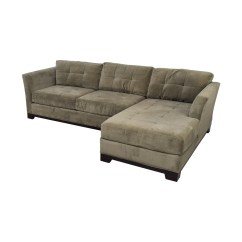 Macy S Elliot Sofa Corner Sets Garden 79 Off 39s Grey Microfiber Semi Tufted