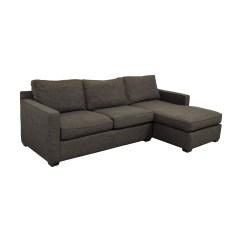 Crate And Barrel Davis Sofa Leather Ashley Masoli Cobblestone 56 Off Three Seat