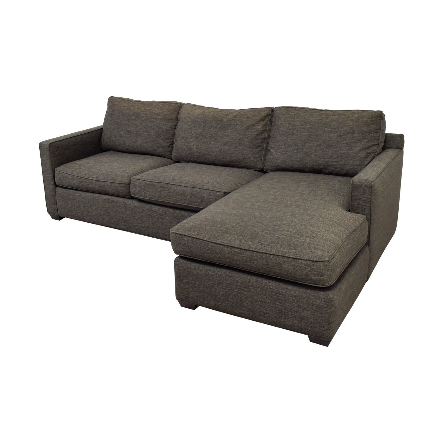 crate and barrel davis sofa leather bed 56 off three seat