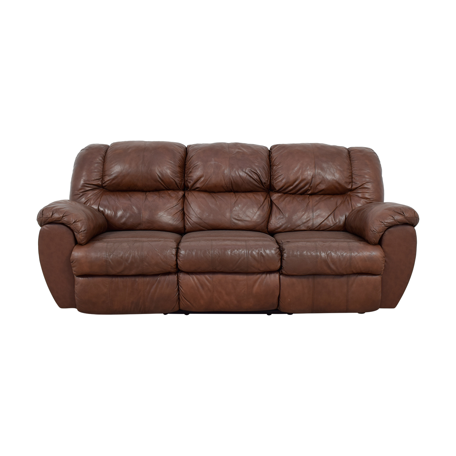 sofitalia leather sofa claremore ashley 64 off dark brown armchair