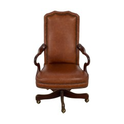 Used Desk Chairs Ford Explorer With Captain 71 Off Charles Stewart Company Brown Buy Leather Chair