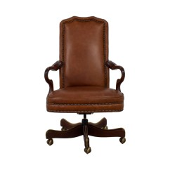 Leather Desk Chairs Revolving Chair Bangalore 71 Off Charles Stewart Company Brown Coupon
