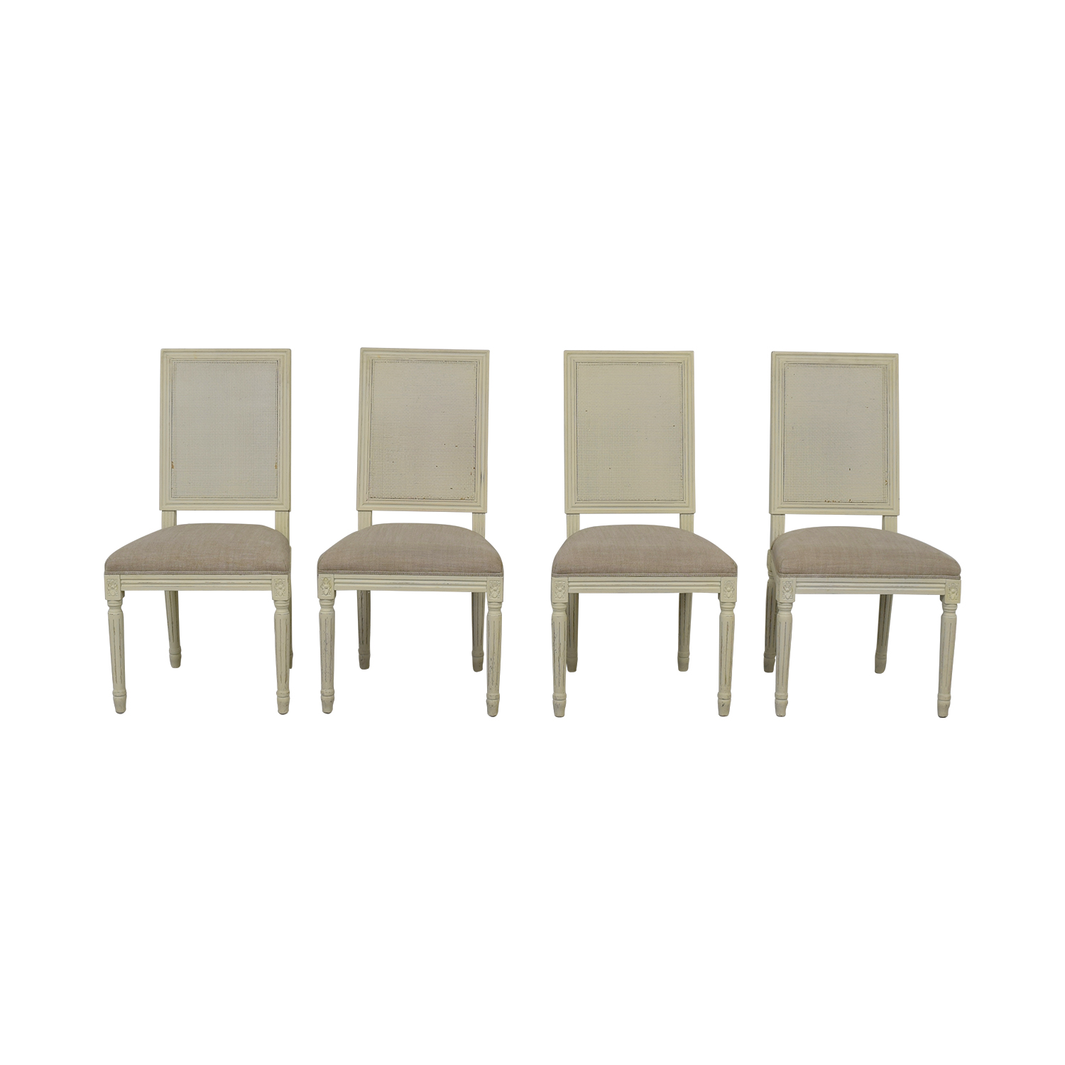 cane back chairs for sale ikea sleeper chair 80 off restoration hardware vintage french square upholstered