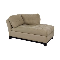 Camel Tufted Sofa Chaise How To Clean Your Fabric 80 Off Raymour And Flanigan Beige