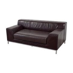 Kramfors Leather Sofa Bed New Orleans 90 Off Ikea Brown Love Seat Sofas