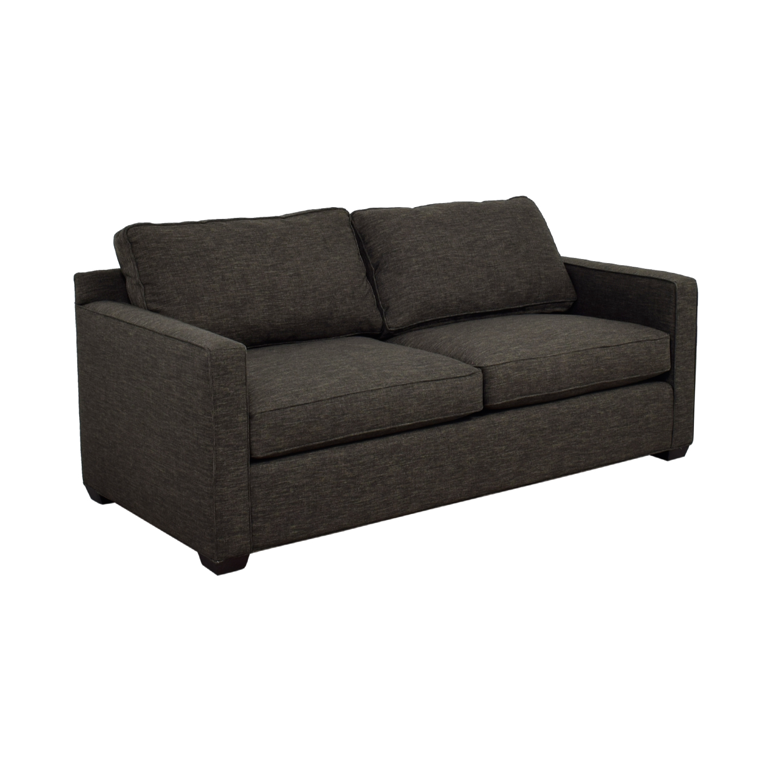 crate and barrel lounge sofa pilling how to measure a for upholstery 60 off davis charcoal two