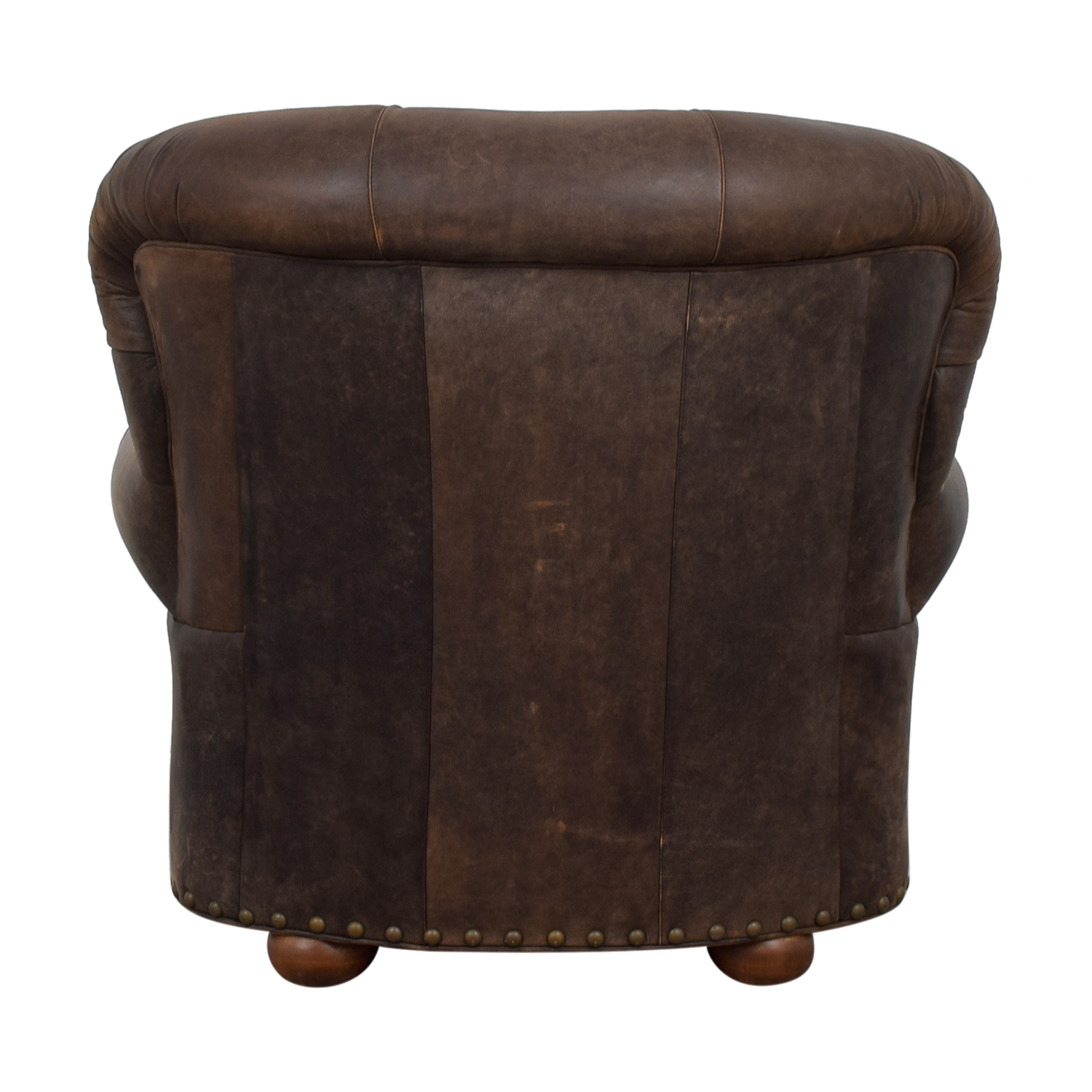 tufted nailhead chair ikea dining covers henriksdal 88 off restoration hardware churchill brown leather nyc