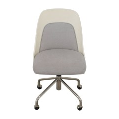 West Elm Desk Chair Pink Banquet Covers 73 Off Bentwood White And Grey Office