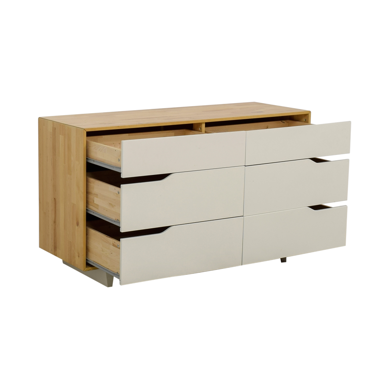 51 OFF  IKEA IKEA Mandal White and Natural SixDrawer Dresser  Storage