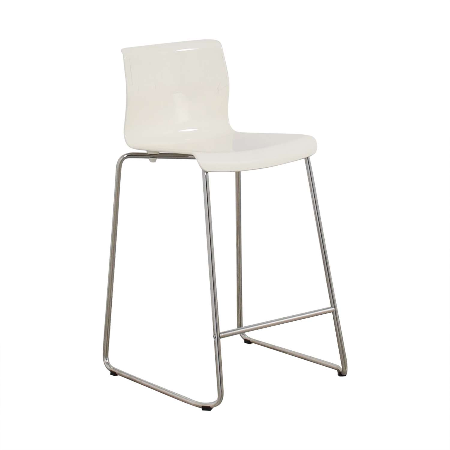 stool chair second hand round kitchen table with 6 chairs 90 off ikea glenn white used dimensions