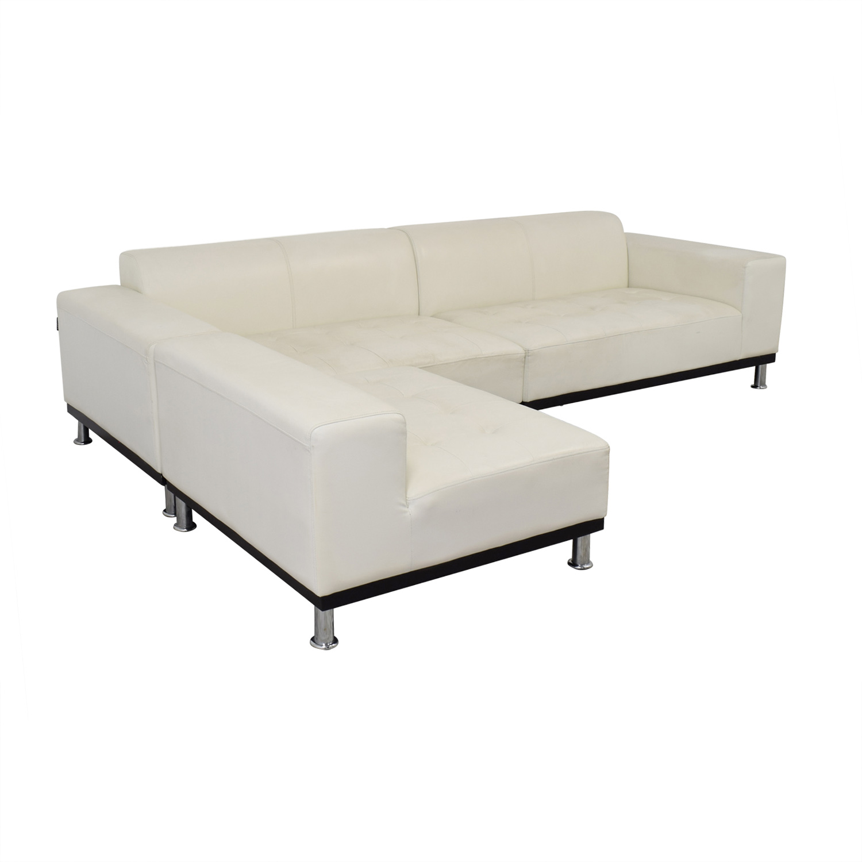 dunham reclining sofa white leather contemporary corner 76 off modani sectional sofas