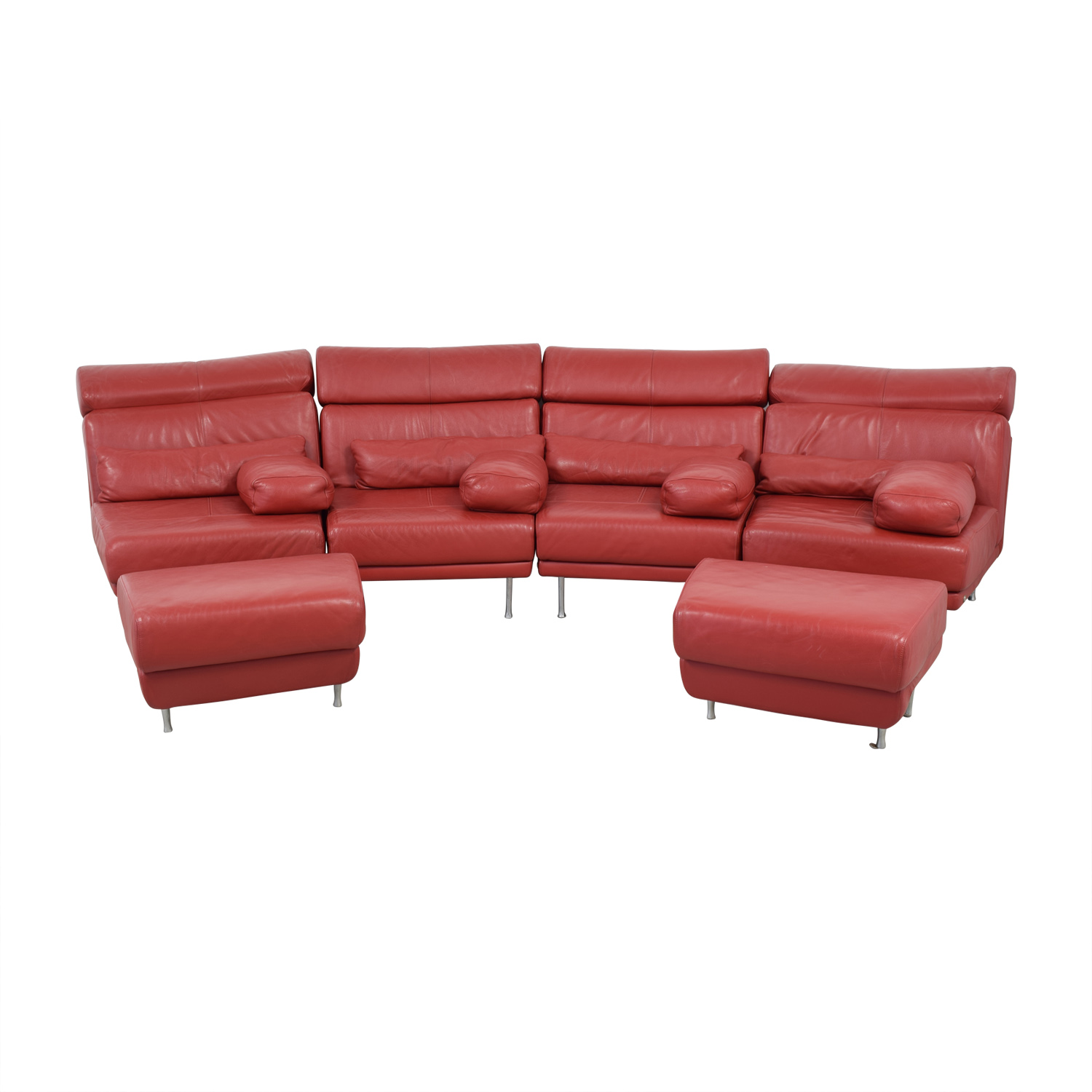 natuzzi red leather sofa and chair fusion grande mist editions b806
