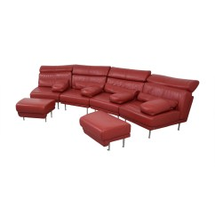 Natuzzi Arona 2 Seater Leather Sofa Bed Armrest Covers For Sofas 90 Off Red Sectional With Two