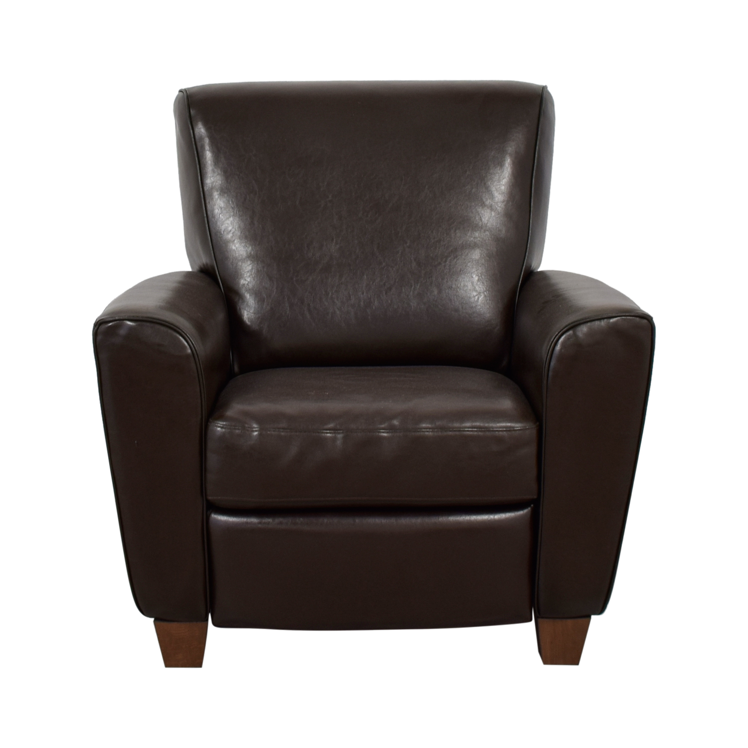 natuzzi lounge chair deer antler rocking 79 off brown leather recliner chairs