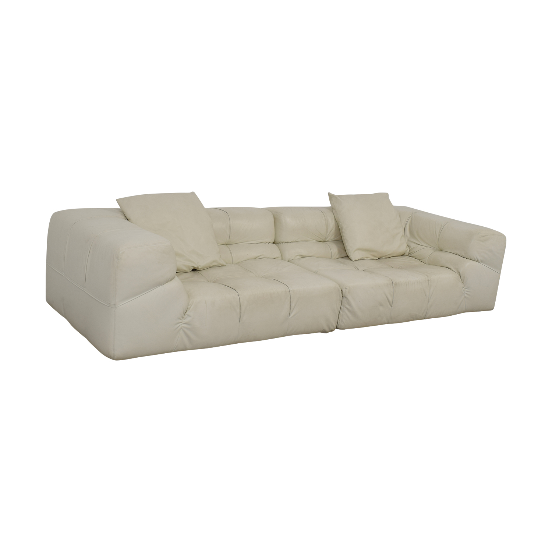 white tufted leather sofa sofamania reviews yelp 52 off ligne roset