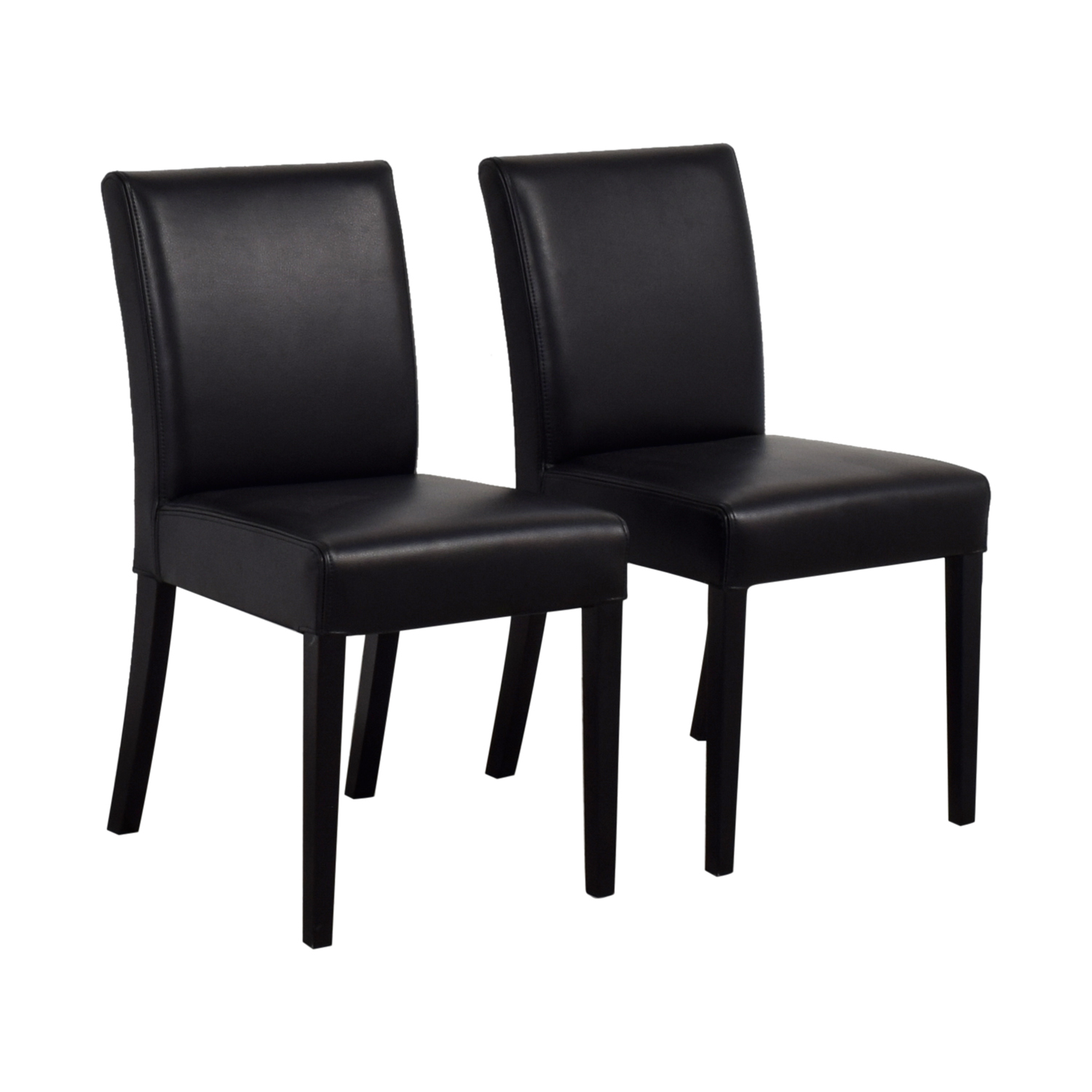Black Barrel Chair 80 Off Crate And Barrel Crate And Barrel Lowe Black Leather
