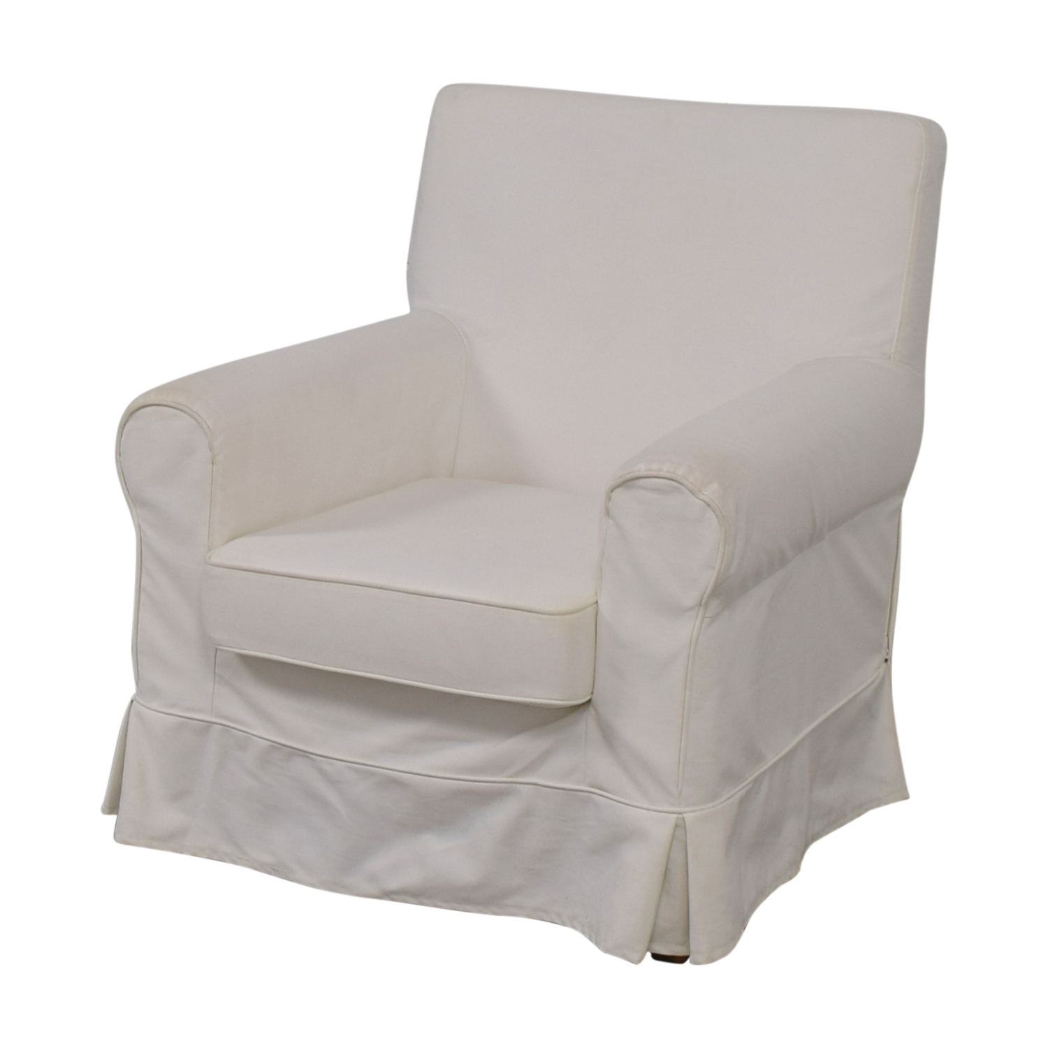 ikea accent chair covers staples hardwood mat 90 off eltorp jennylund white skirted