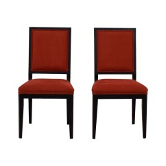 Red Tufted Dining Chair Plastic Lounge 90 Off Buying And Design Upholstered Chairs