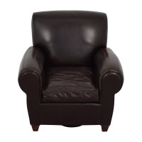 65% OFF - Pottery Barn Pottery Barn Brown Leather Chair ...