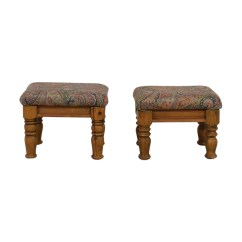 Chairs And Ottomans Upholstered Bedroom Chaise Lounge 90 Off Multi Colored Paisley Wood Or Foot Shop Stools