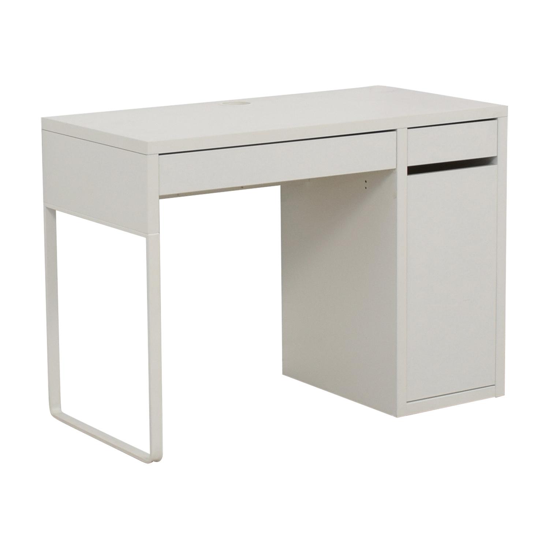 64 OFF  IKEA IKEA White Desk  Tables