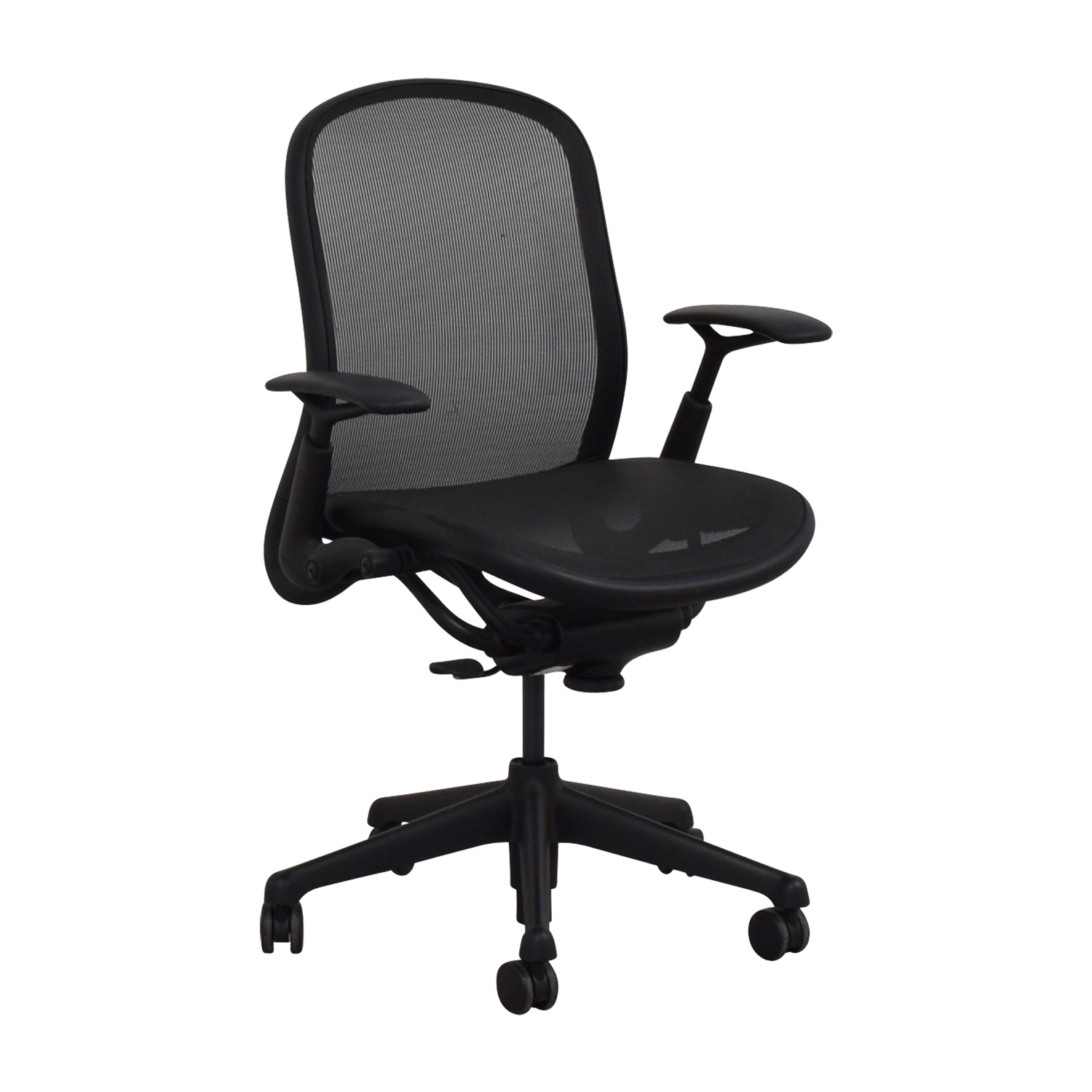 76 OFF  Knoll Knoll Black Rolling Office Chair  Chairs