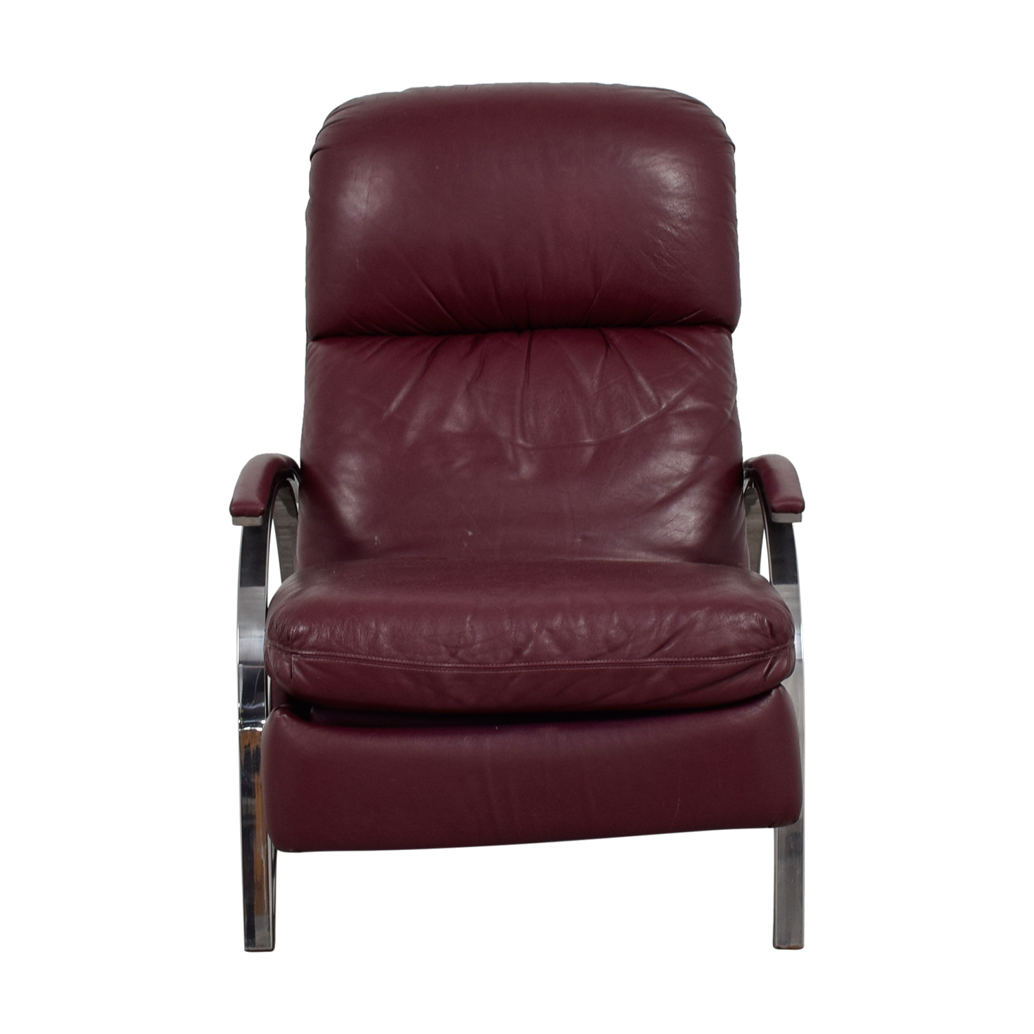 90 OFF  Burgundy Leather Recliner Chair  Chairs