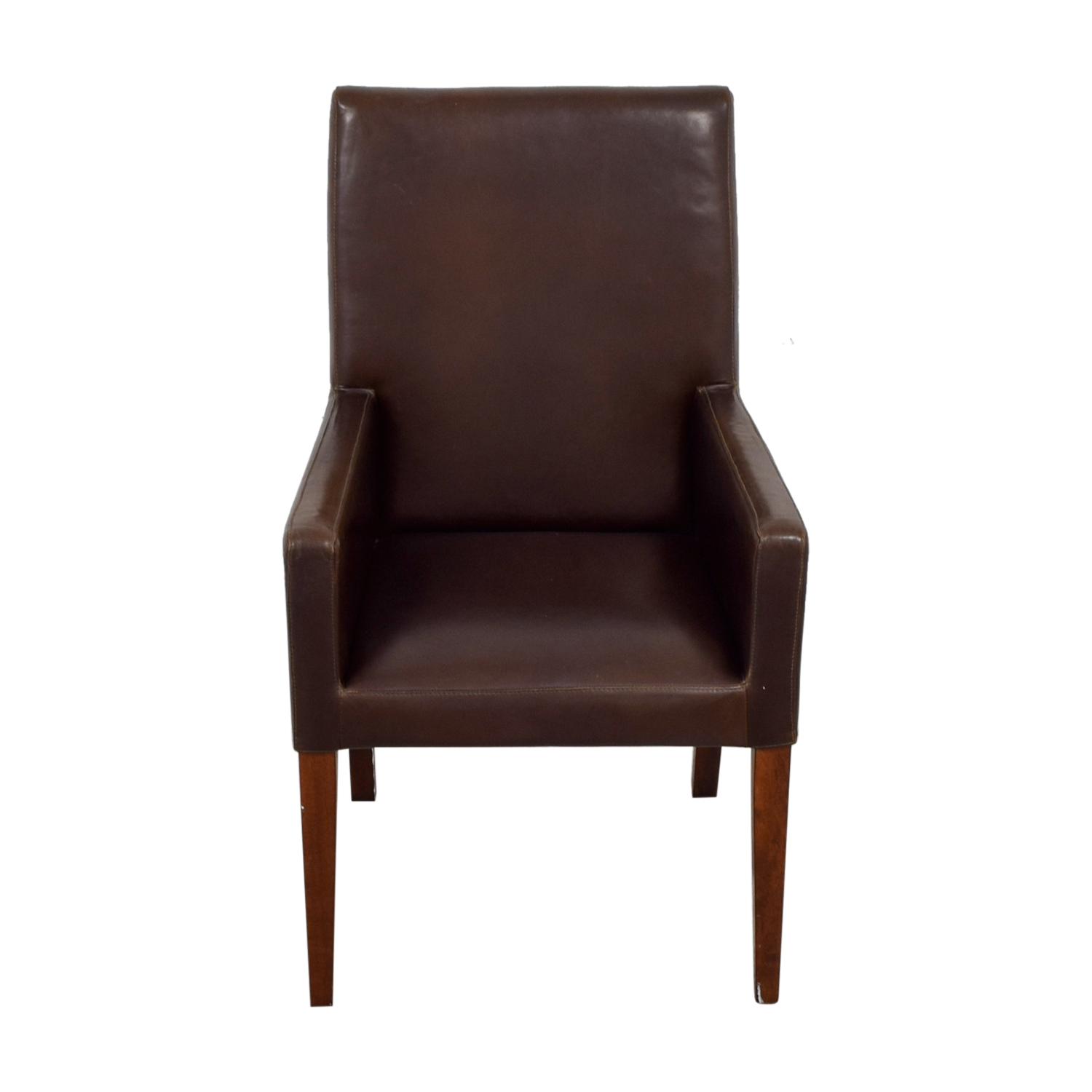 leather dining chairs pottery barn office chair zurich 90 off brown