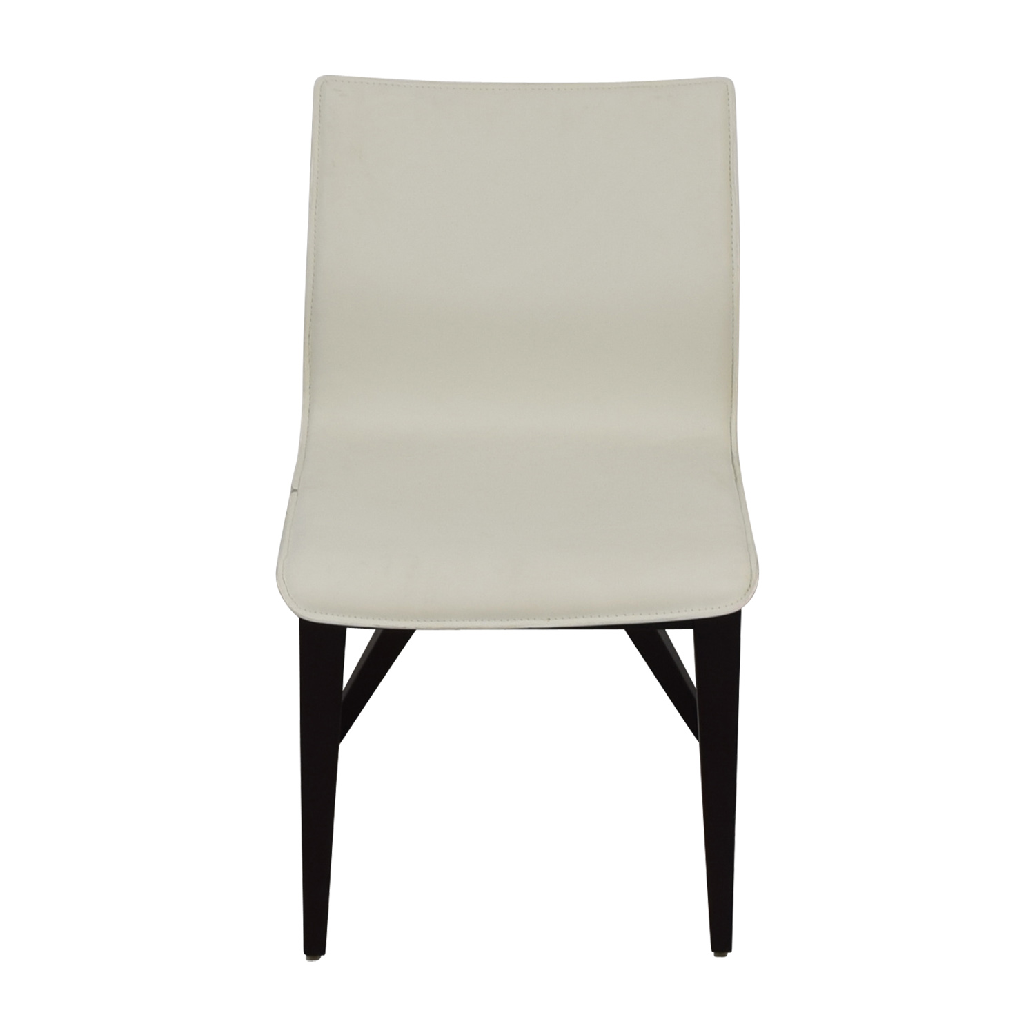 white x back chair steel with leather 81 off cliff young