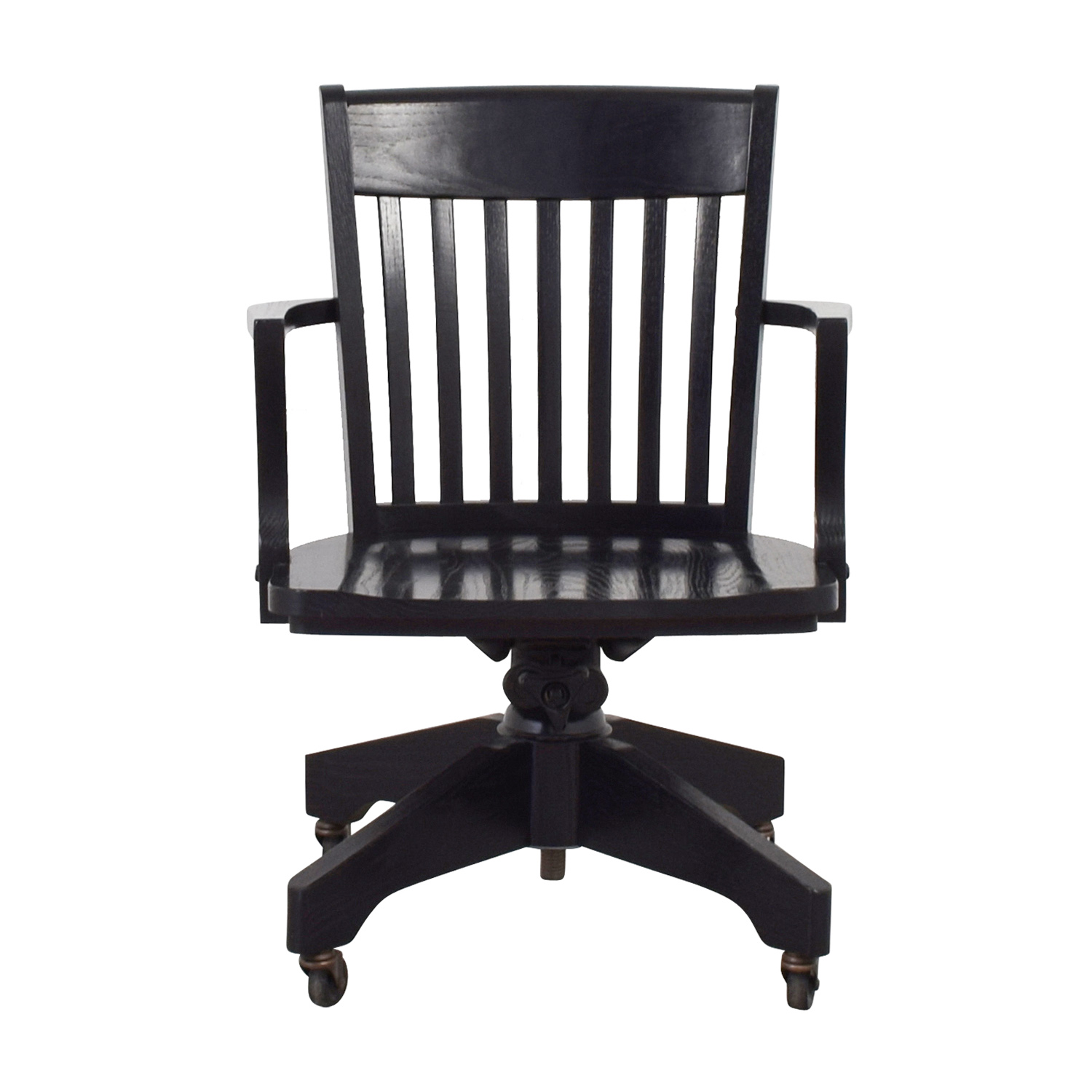 swivel chair pottery barn 6 seat dining table and chairs home office used for sale