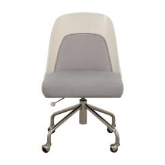 Microfiber Office Chair Support 77 Off West Elm Bentwood White Ash Gray Marled Home Chairs