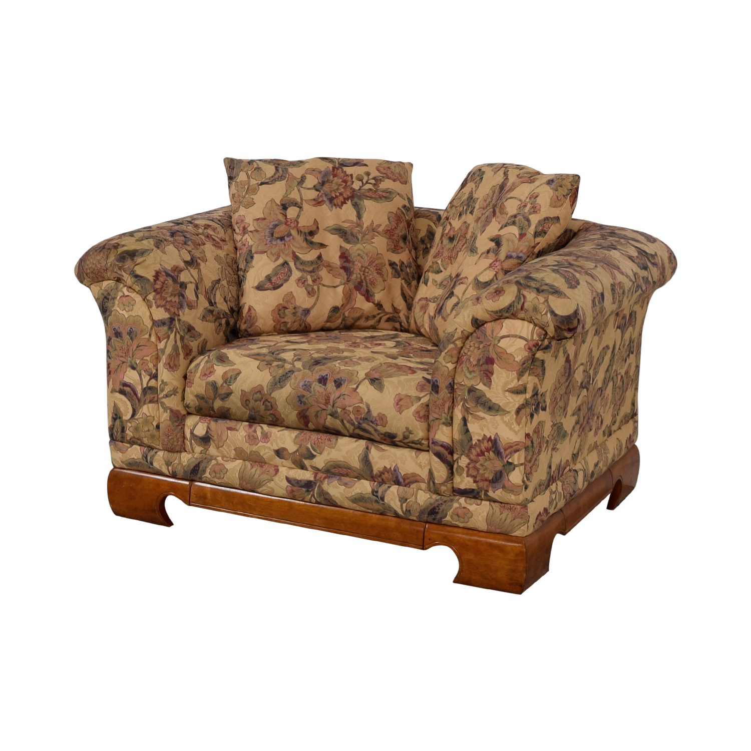 floral print accent chairs sand target 90 off sealy furniture