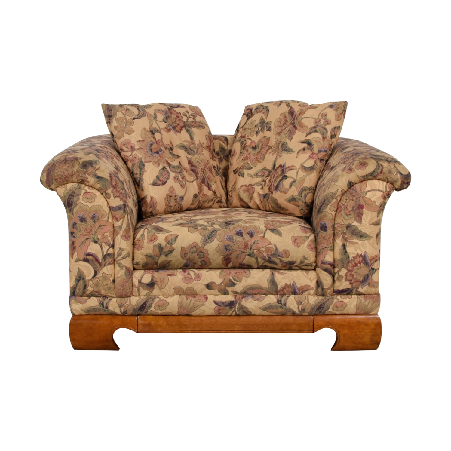 floral print accent chairs hanging chair swivel hook 90 off sealy furniture price