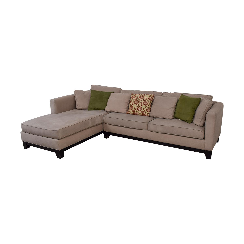 macys sectional sofa microfiber ashley barcelona 3 cuerpos 76 off macy 39s taupe